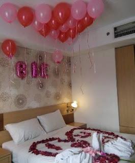 Dekorasi balon ulang tahun di kamar