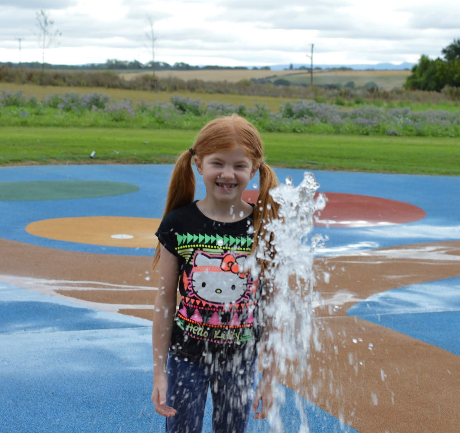 A Luxury Family Staycation at Rockliffe Hall Hotel  - water play area