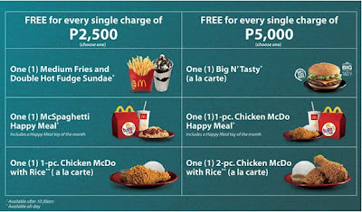 A La Carte Mcdonalds.Metrobank Mcdonald S Treat 12 Philippine Freebies Promos