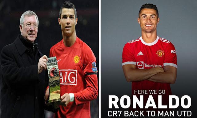 كريستيانو رونالدو يعود إلى مانشستر يونايتد - Cristiano Ronaldo returns to Manchester United