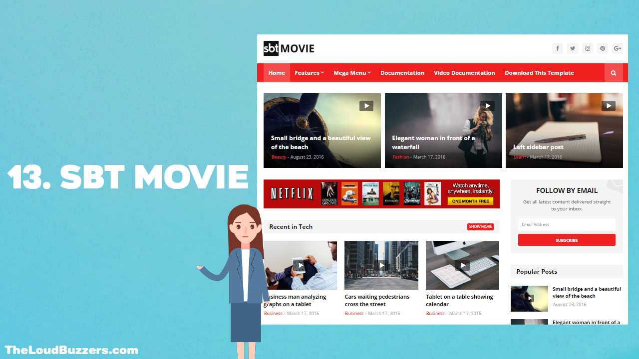 SBT Movies Blogger Template