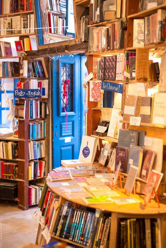 Atlantis Bookshop in Oia, Santorini - Ioanna's Notebook