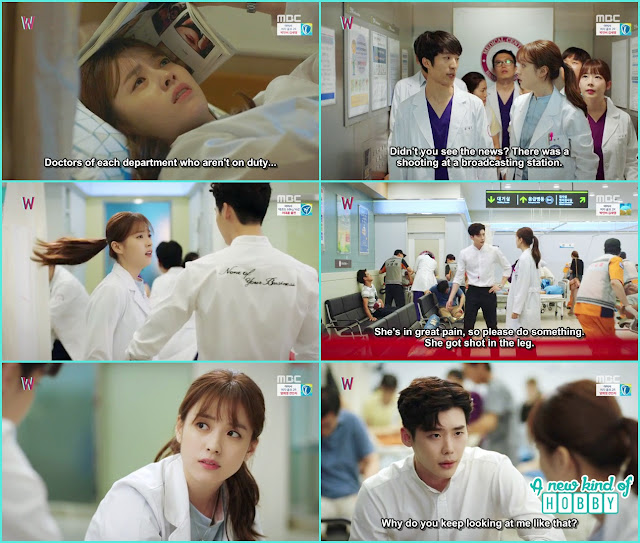 w recording program many injured atthe hospital yeon jo appear in webtoon world- W - Episode 9 Review