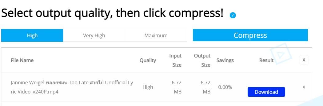 Hasil Compress Video Menggunakan CloudPresso