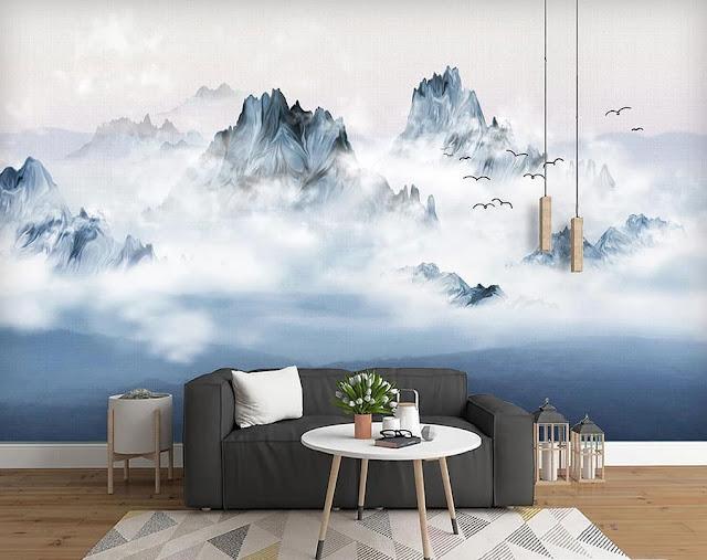 Wallpaper Dinding Motif Pemandangan Alam Terbaru