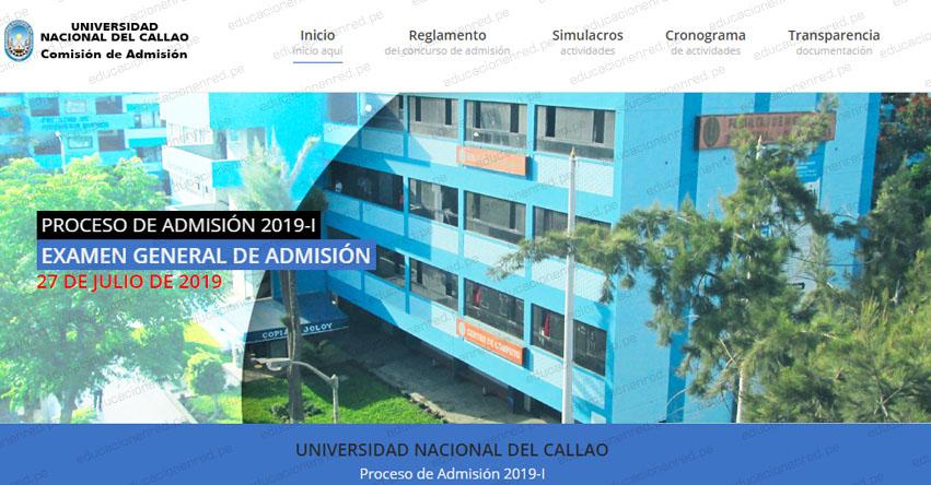 Resultados UNAC 2019-1 (Sábado 27 Julio) Lista Ingresantes Admisión General - Universidad Nacional del Callao - www.unac.edu.pe