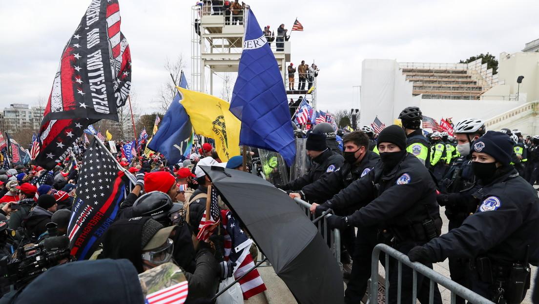 Trumpistas irrumpen en alrededores del Capitolio mientras Congreso certifica la elección de Biden