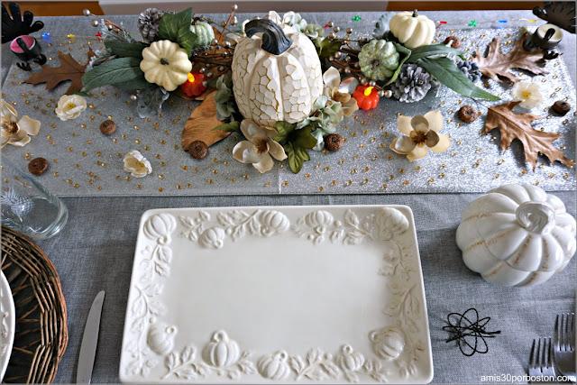 Decoración de la Cena de Acción de Gracias 2020 en Massachusetts