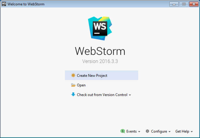 JetBrains WebStorm 2016.3.3 Full (Potente editor de cogido JavaScript)