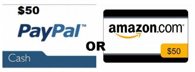 Sorteio de $ 50 dólares da Amazon / PayPal!
