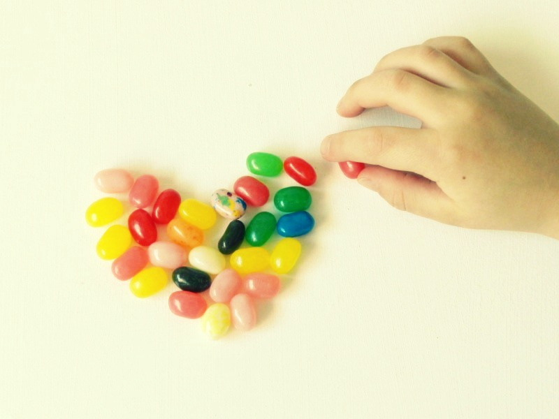 Valentine's Heart Photography- jelly beans- Grow Creative