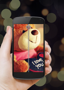 Teddy Bear Zipper Lock Screen Apk