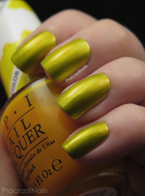 Swatch of OPI Primarily Yellow from the 2015 Color Paints Collection