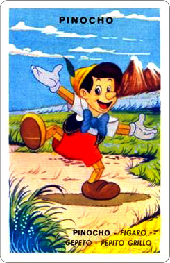 Juego Familias Walt Disney Carta Pinocho 1