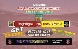 Who will win Today T10 League 2019, 17th Match NOR vs BAT, 100% Sure Prediction