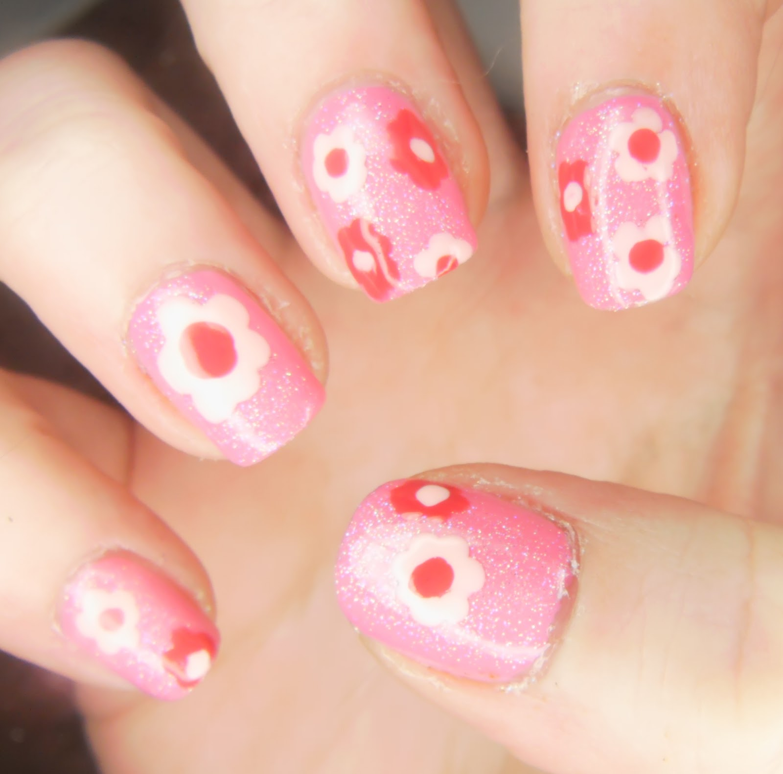 Girly Nail Art: SpecialGirl Nails: Girly Girl Nail Art Challenge: Think Pink