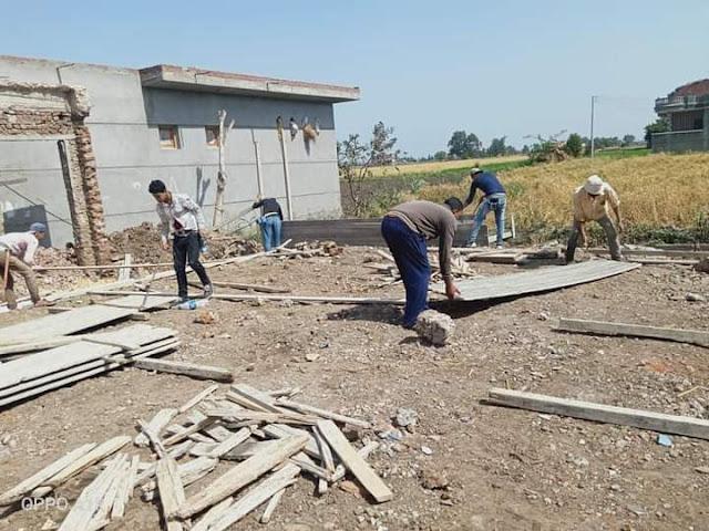 إزالة ٤ حالات تعدي وإيقاف أعمال على مساحة ٥٥٠ م٢ بنطاق ٤ مراكز بالبحيرة.