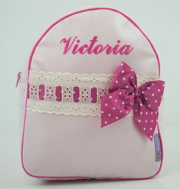 Personalisierte Rucksack für Kinder mit name rosa