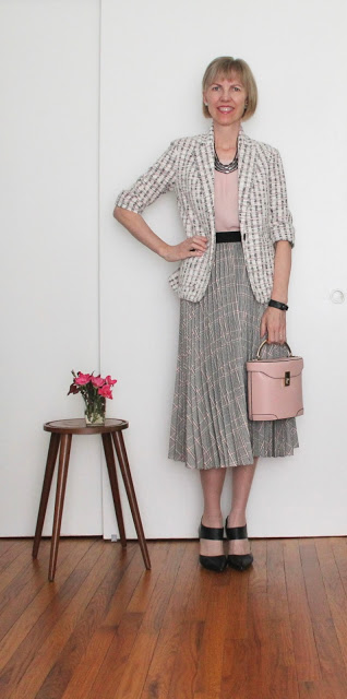 Silver and pink with pleats for Maryland blogger Di from Di-Alog as featured on Is This Mutton?