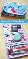 Cosmetics Case Roll Up Bag Tutorial