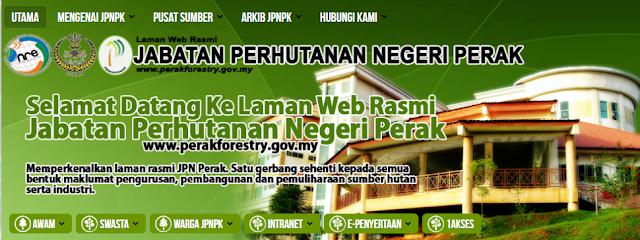 Rasmi - Jawatan Kosong (JPNPK) Jabatan Perhutanan Negeri Perak 2019