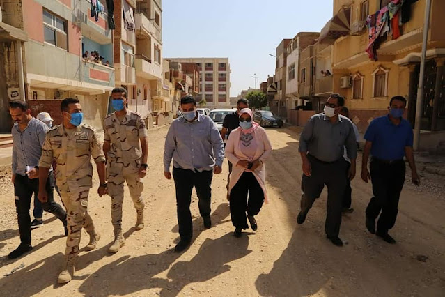 نائب محافظ السويس يتفقد اعمال التطوير والرصف بنطاق حي فيصل ومدن عتاقة