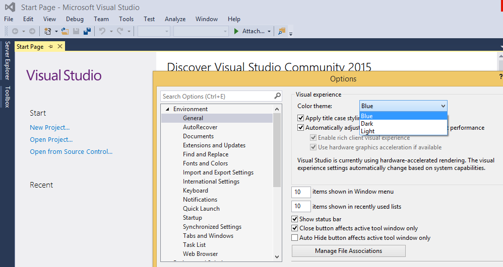 How to change theme on Visual Studio ~ Full Stack Software