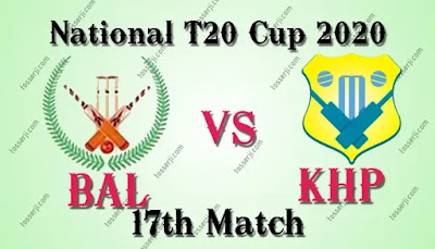 Baluchistan vs Khyber Pakhtunkhwa 17th match