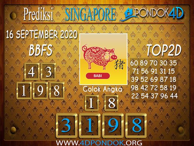 Prediksi Togel SINGAPORE PONDOK4D 16 SEPTEMBER 2020