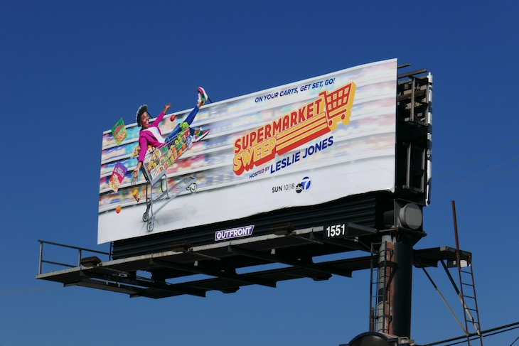 Supermarket Sweep 2020 launch billboard