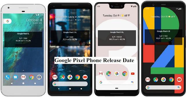 Google Pixel Phone Release Date
