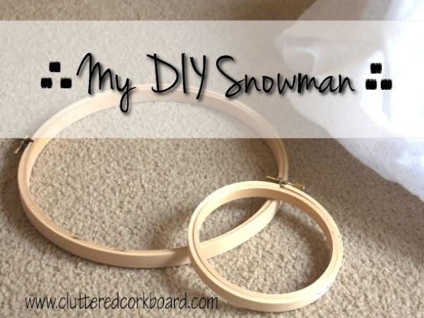 DIY An Adorable Wood Hoop Snowman