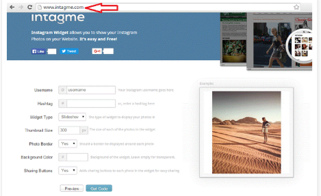 step-by-step instructions on how to add Instagram widget to blogger