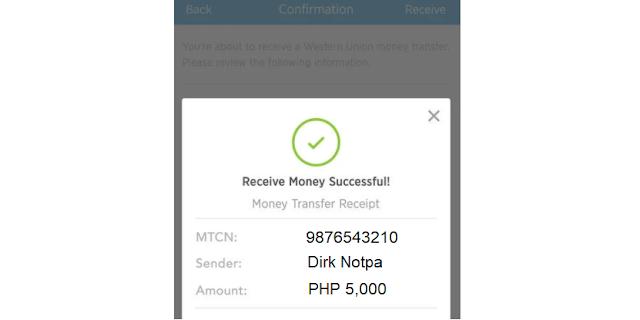 receive money