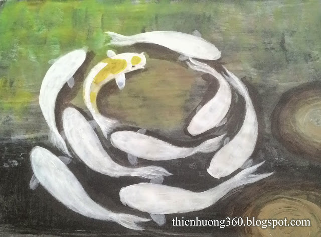 Cửu ngư quần hội: Vẽ vây cá chép