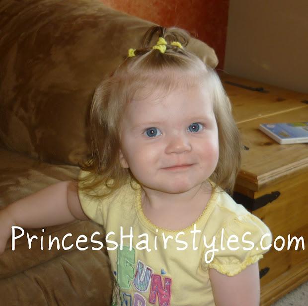 baby hairstyles - elastic halo