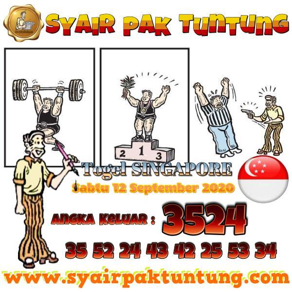 Syair SGP Sabtu 12 September 2020 -