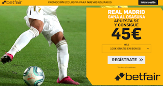 betfair supercuota liga Real Madrid gana Osasuna 9 febrero 2020