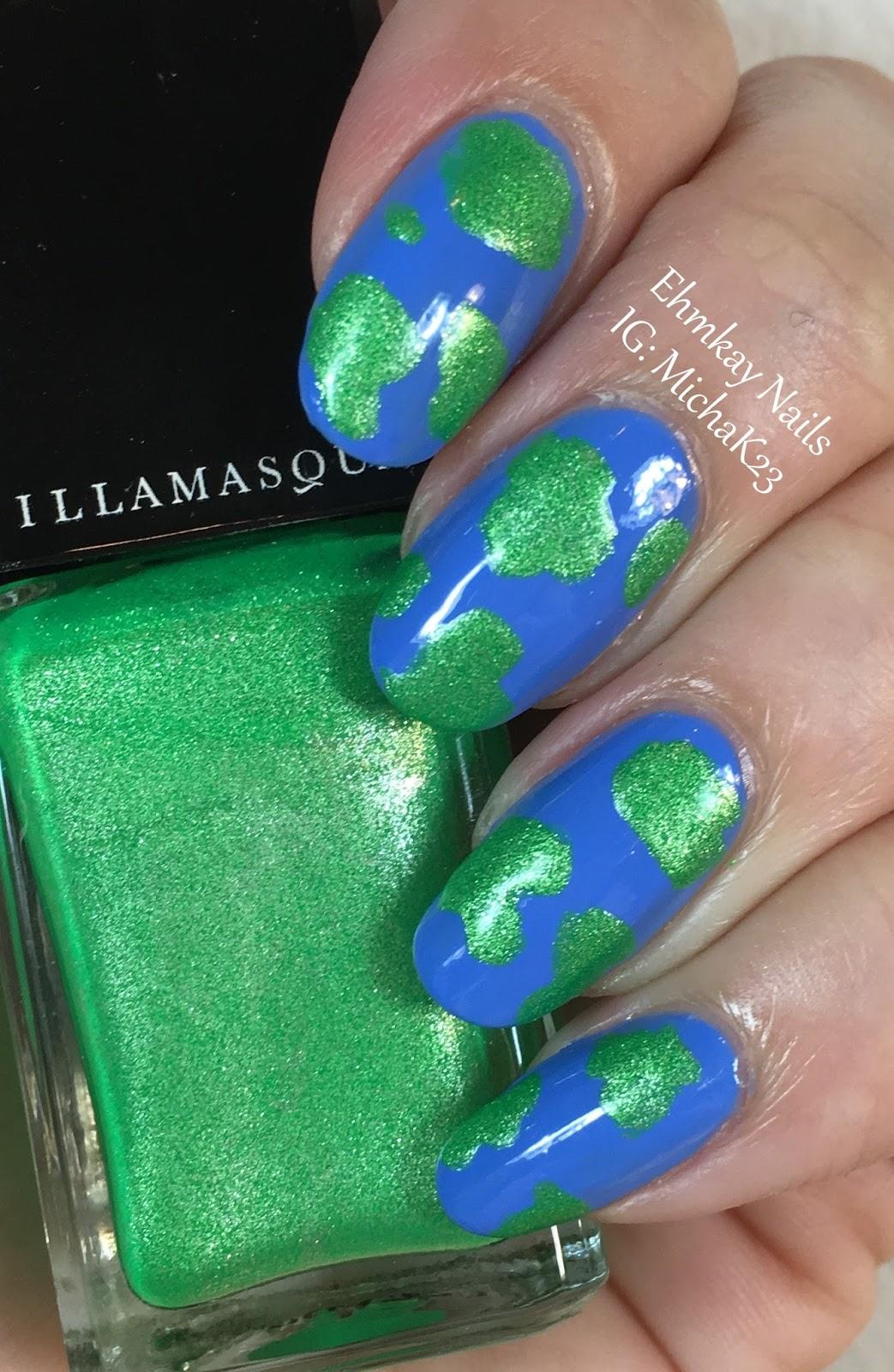 ehmkay nails: Earth Day Nails! Earth Nail Art with ...