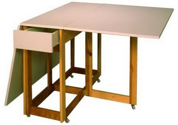 Sewing cutting and storing table for small spaces for Craft table with storage plans