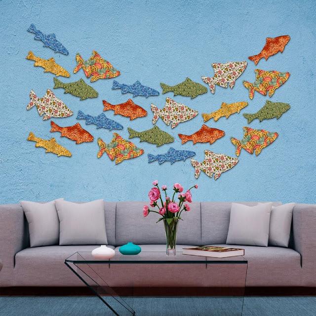 12 Piece Fish Wall Decor Set