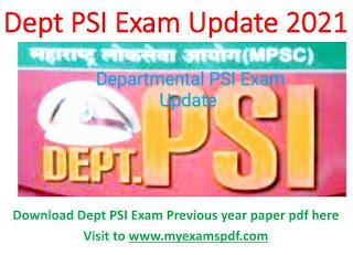 Dept PSI Question Paper Department pdf