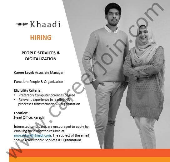 noor.sehar@khaadi.com - Khaadi SMC Pvt Ltd Jobs 2021 in Pakistan