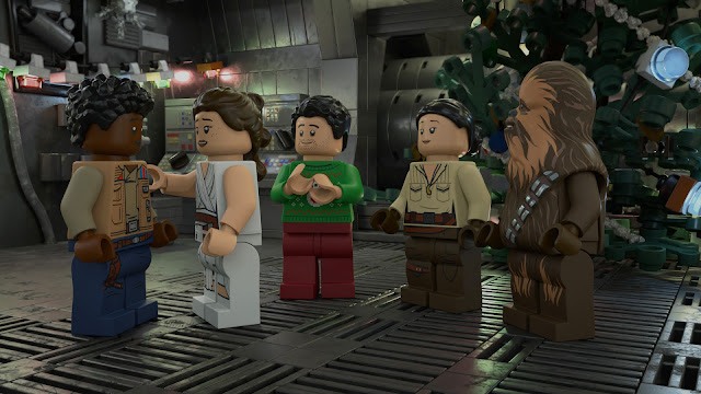 The crew on the Millenium Falcon