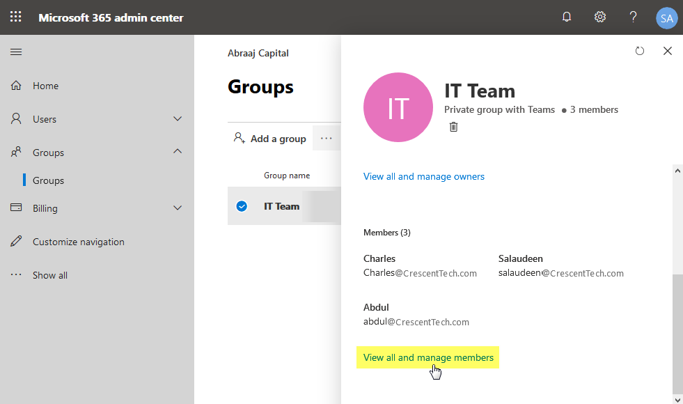 remove user from office 365 group