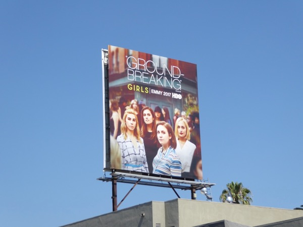 Girls season 6 Emmy FYC billboard