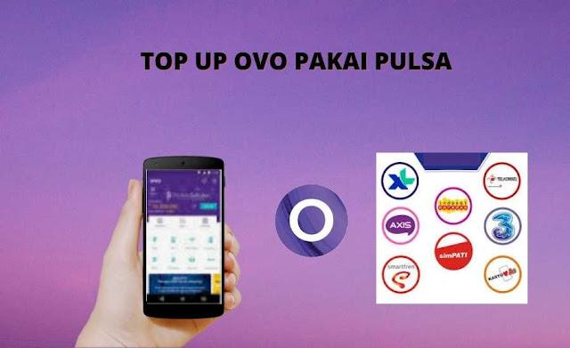 Top up OVO Pakai Pulsa