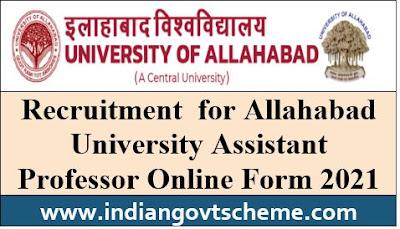 Recruitment for Allahabad University