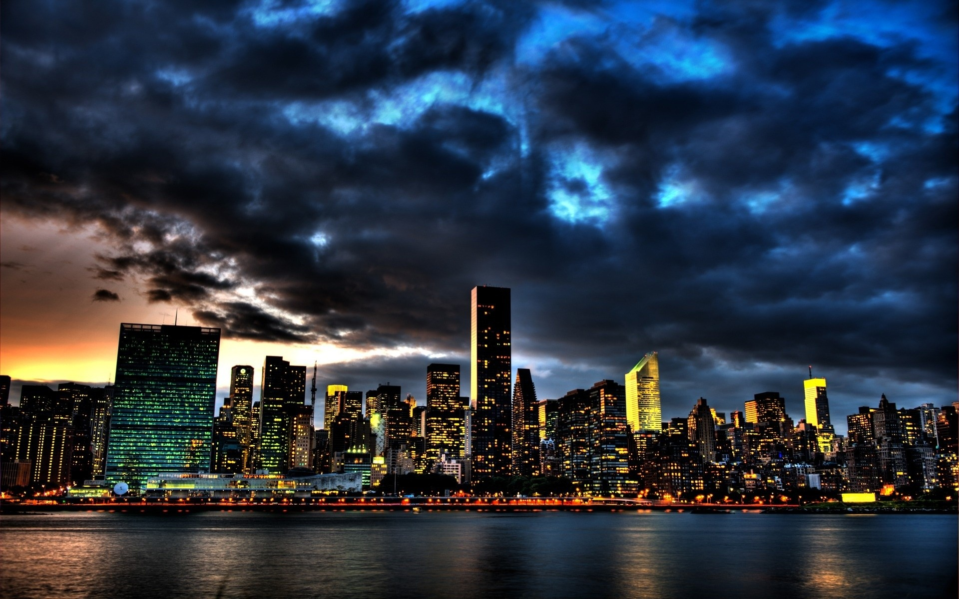Storm Clouds Over New York Full Hd Desktop Wallpapers 1080p