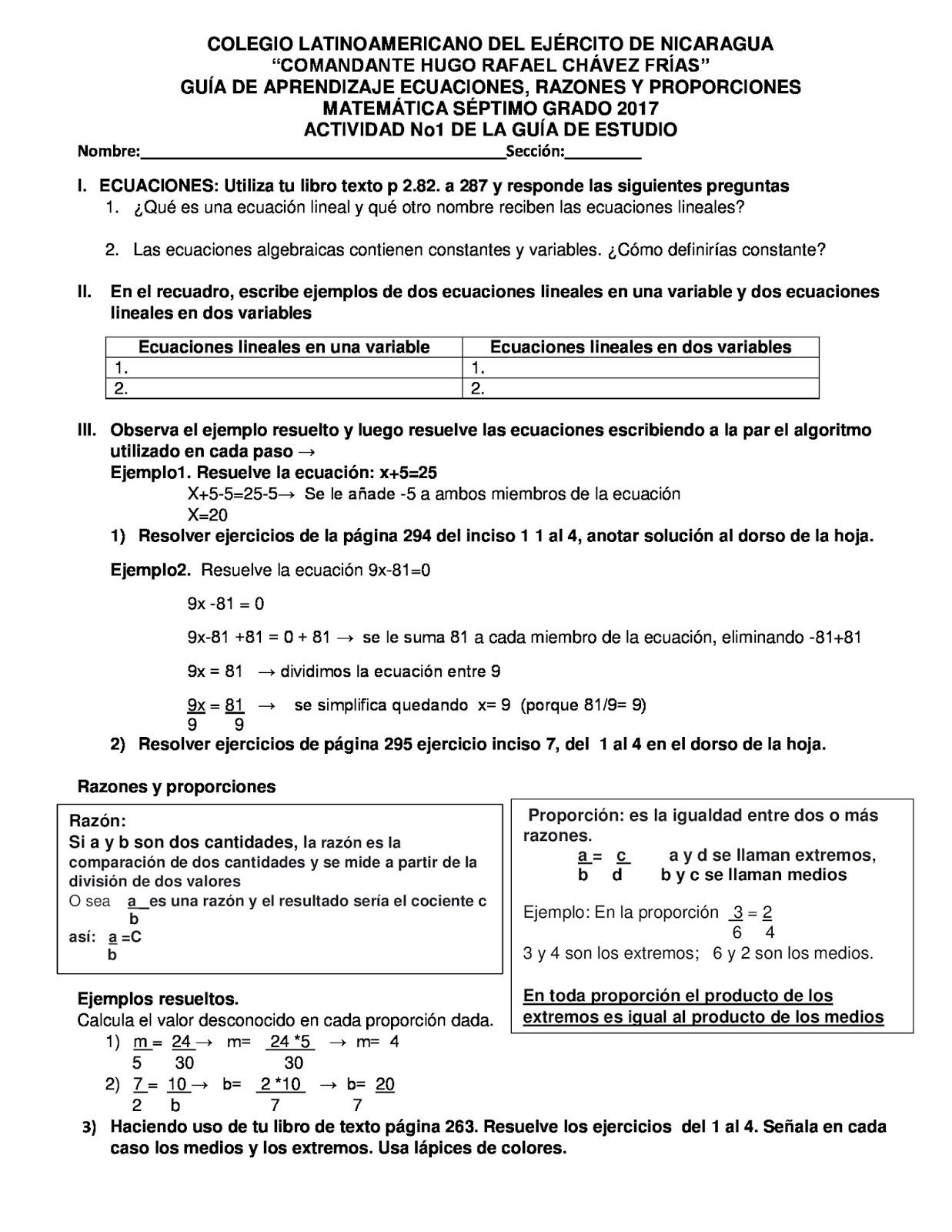 Fantástico Séptimo Grado Proporciones Hoja De Trabajo Ideas - hojas ...